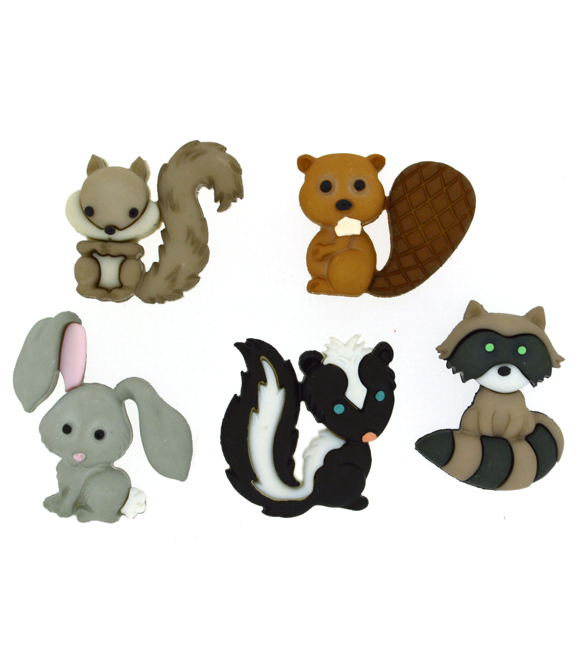 Jesse James Dress It Up Animals Button Embellishments-Backyard Buddies