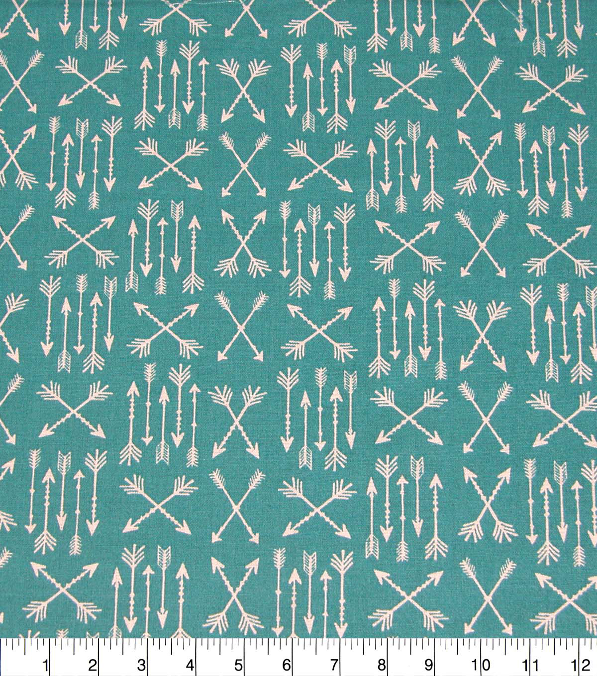 Quilter\u0027s Showcase Cotton Fabric-Teal Arrow Patches