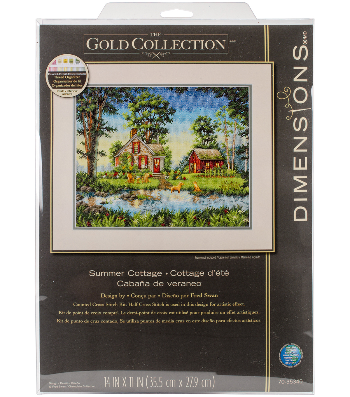 Gold Collection Summber Cottage Counted Cross Stitch Kit