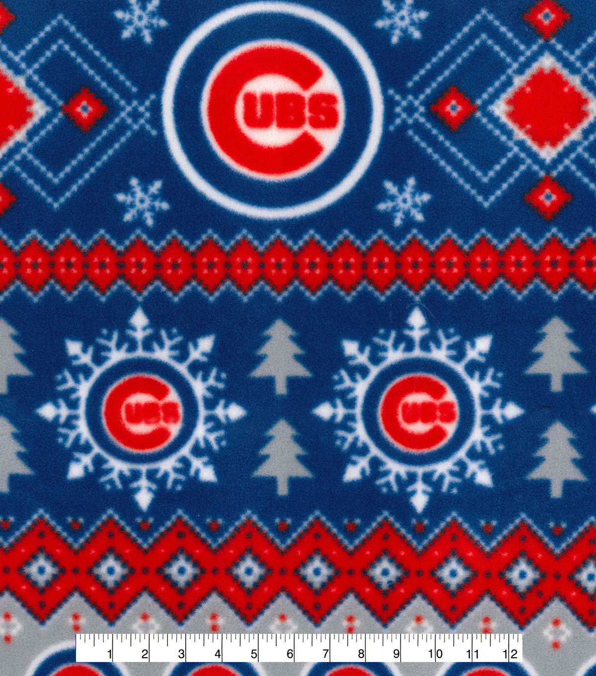 Chicago Cubs Fleece Fabric 58\u0022-Winter