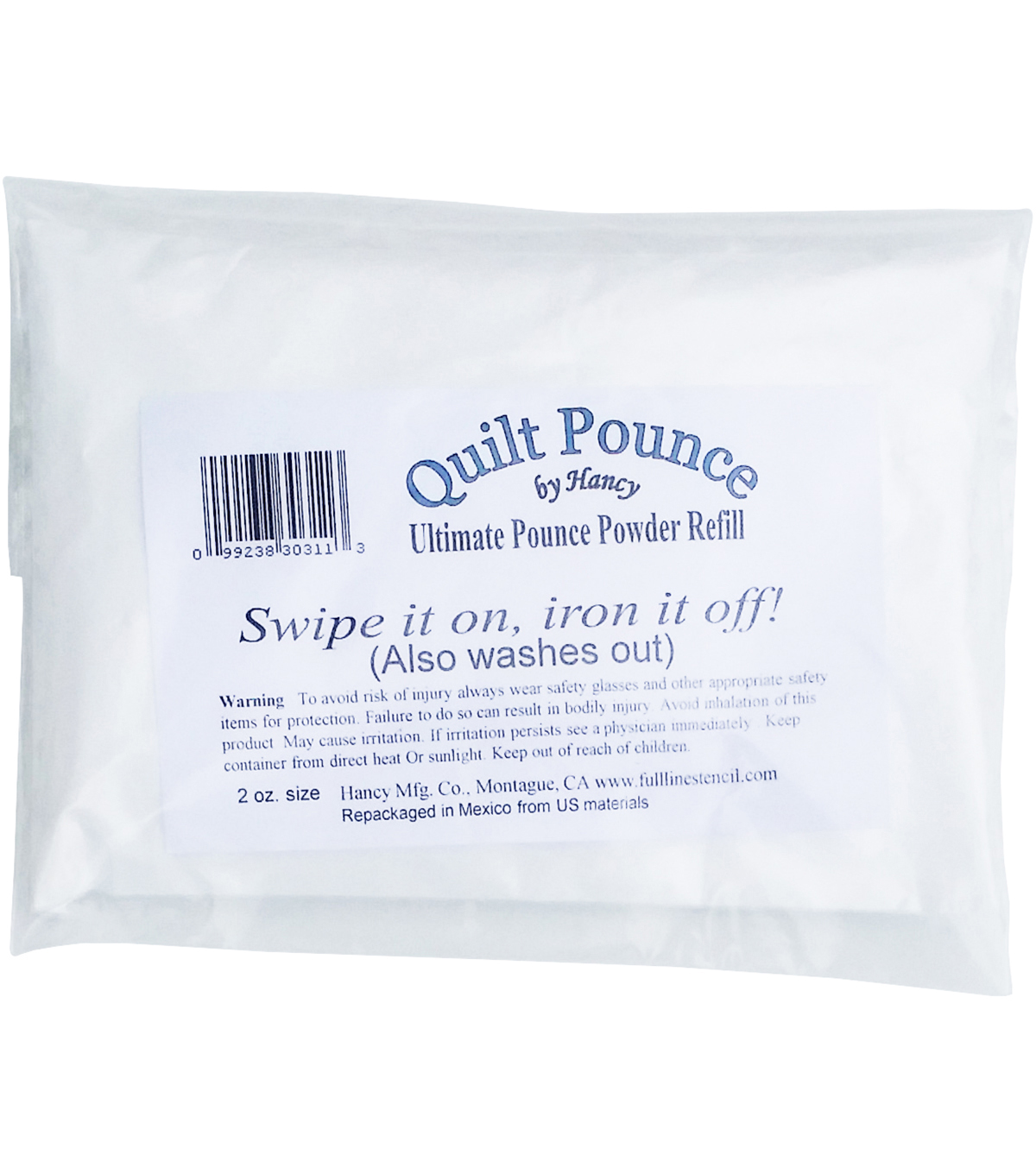 Hancy 2 oz Ultimate Quilt Pounce Chalk Refill-White