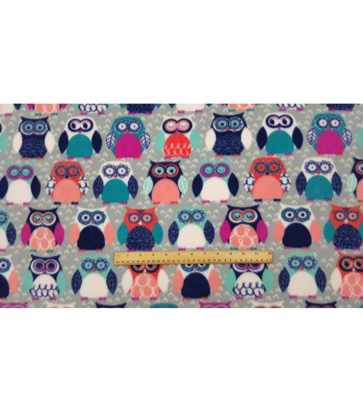 Anti-Pill Fleece Fabric 59\u0022-Sadie Owl