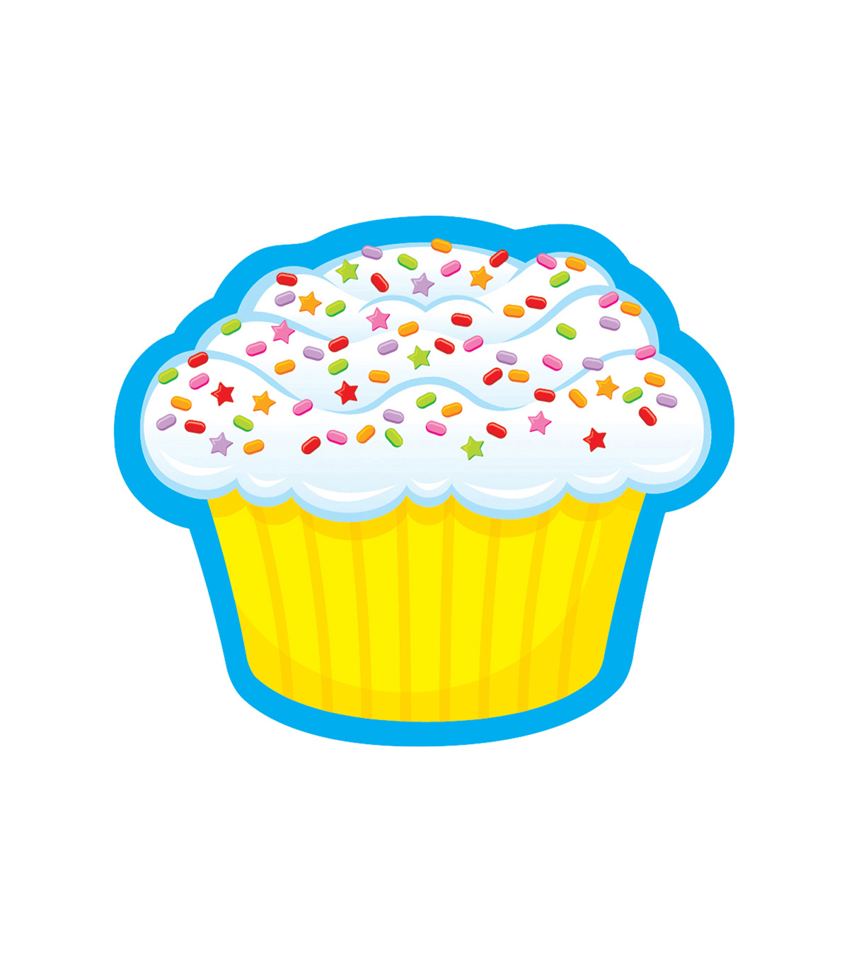 Trend Enterprises, Inc. Confetti Cupcake Mini Accents, 36/Pack, 6 Packs