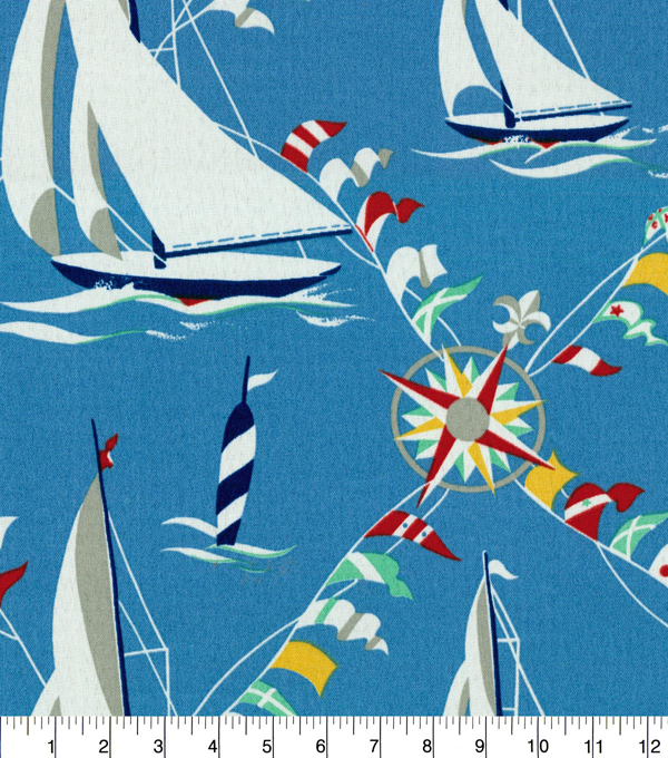 Waverly Sun N Shade Fabric 9\u0022x9\u0022 Swatch-Set Sail Atlantic
