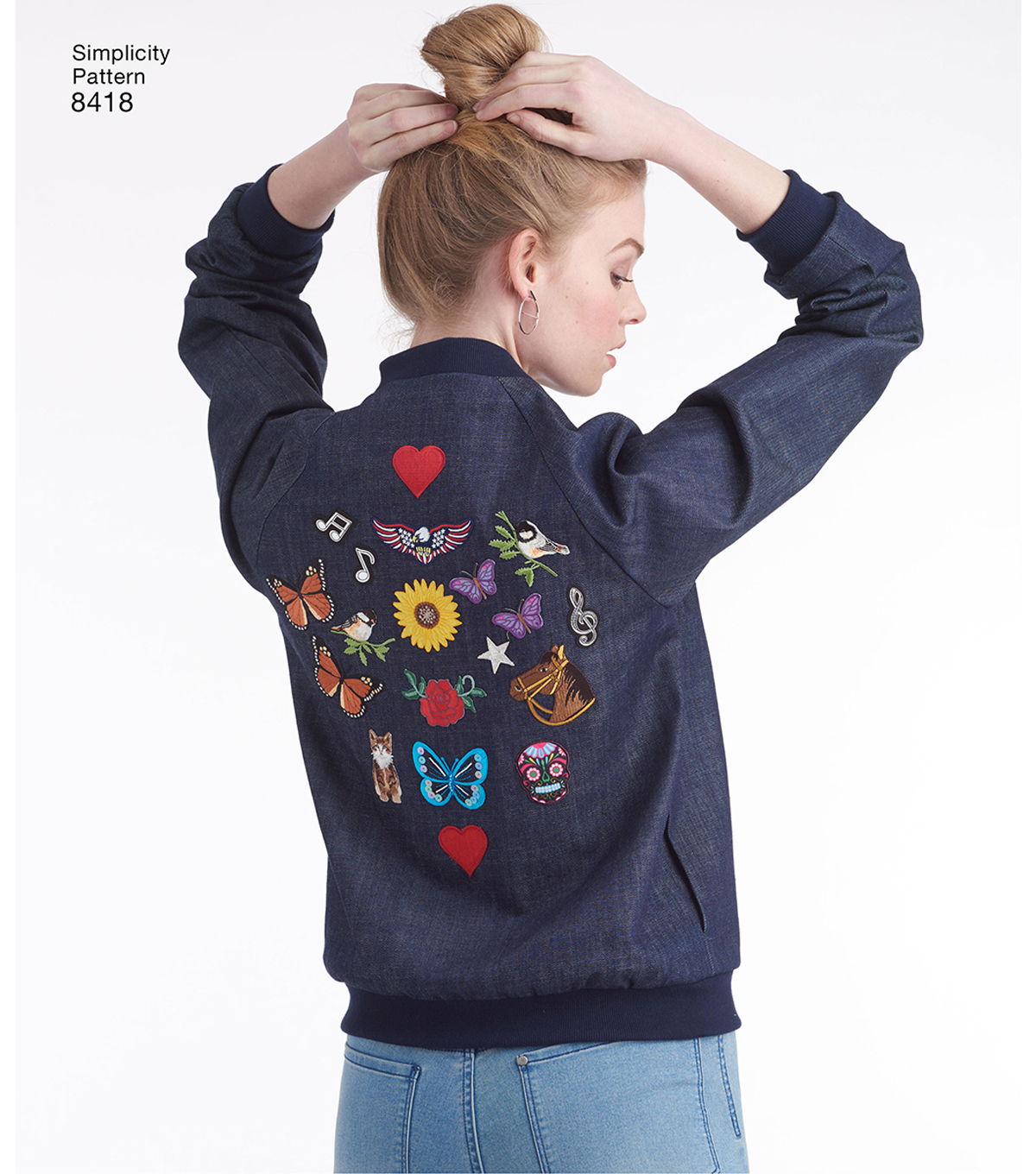 Simplicity Pattern 8418 Misses\u0027 Lined Bomber Jacket-Size D5 (4-12)