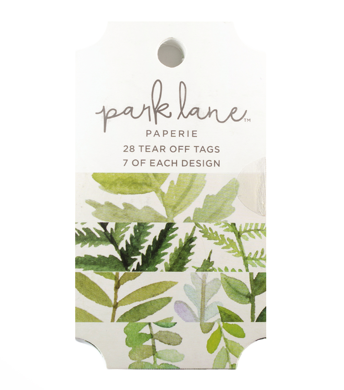 Park Lane Paperie 28 pk Tear off Tags-Greenery