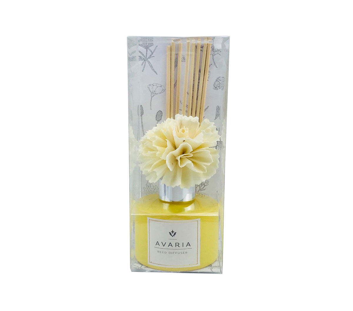 Avaria Fresh Plumeria Scented Reed Diffuser-Yellow