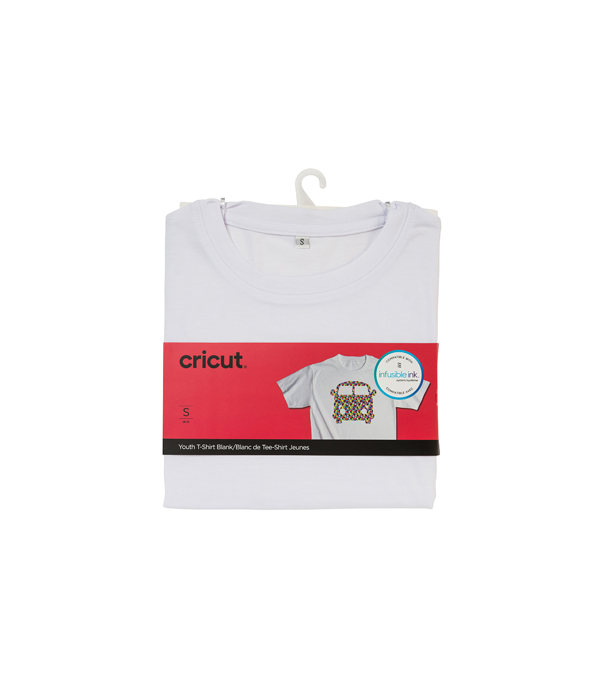 Cricut Infusible Ink Youth Crew Neck T-Shirt -White, Small