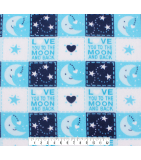 Nursery Fleece Fabric -Love You to the Moon and Back Patch