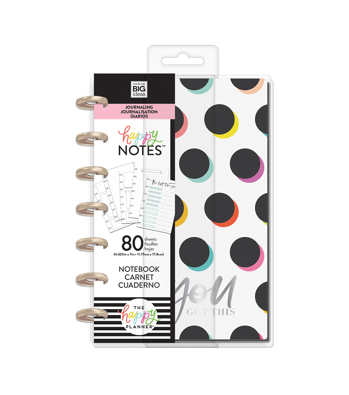 The Happy Planner Happy Notes 80-sheet Mini Notebook-You Got This