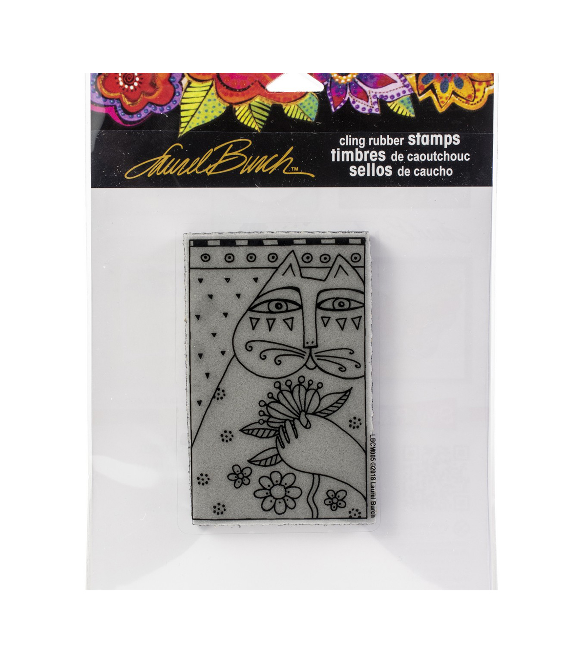 Stampendous Laurel Burch Cling Stamp-Sentimental Feline