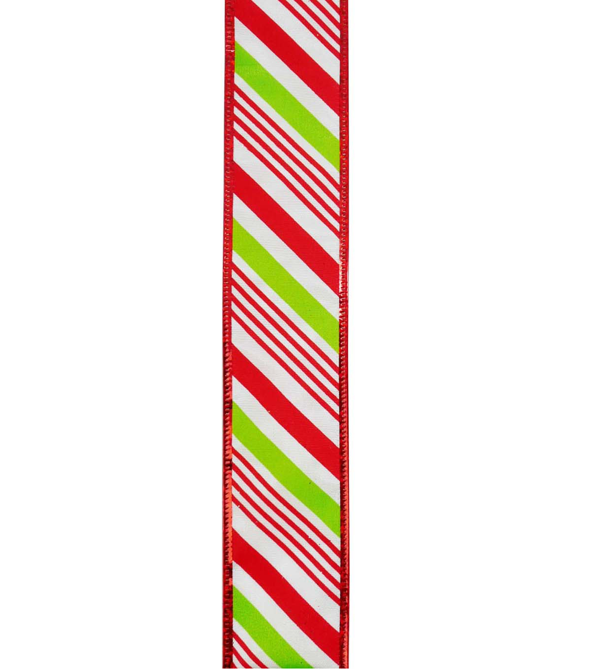 Maker\u0027s Holiday Ribbon 1.5\u0027\u0027x30\u0027-Red, White & Green Candy Stripes