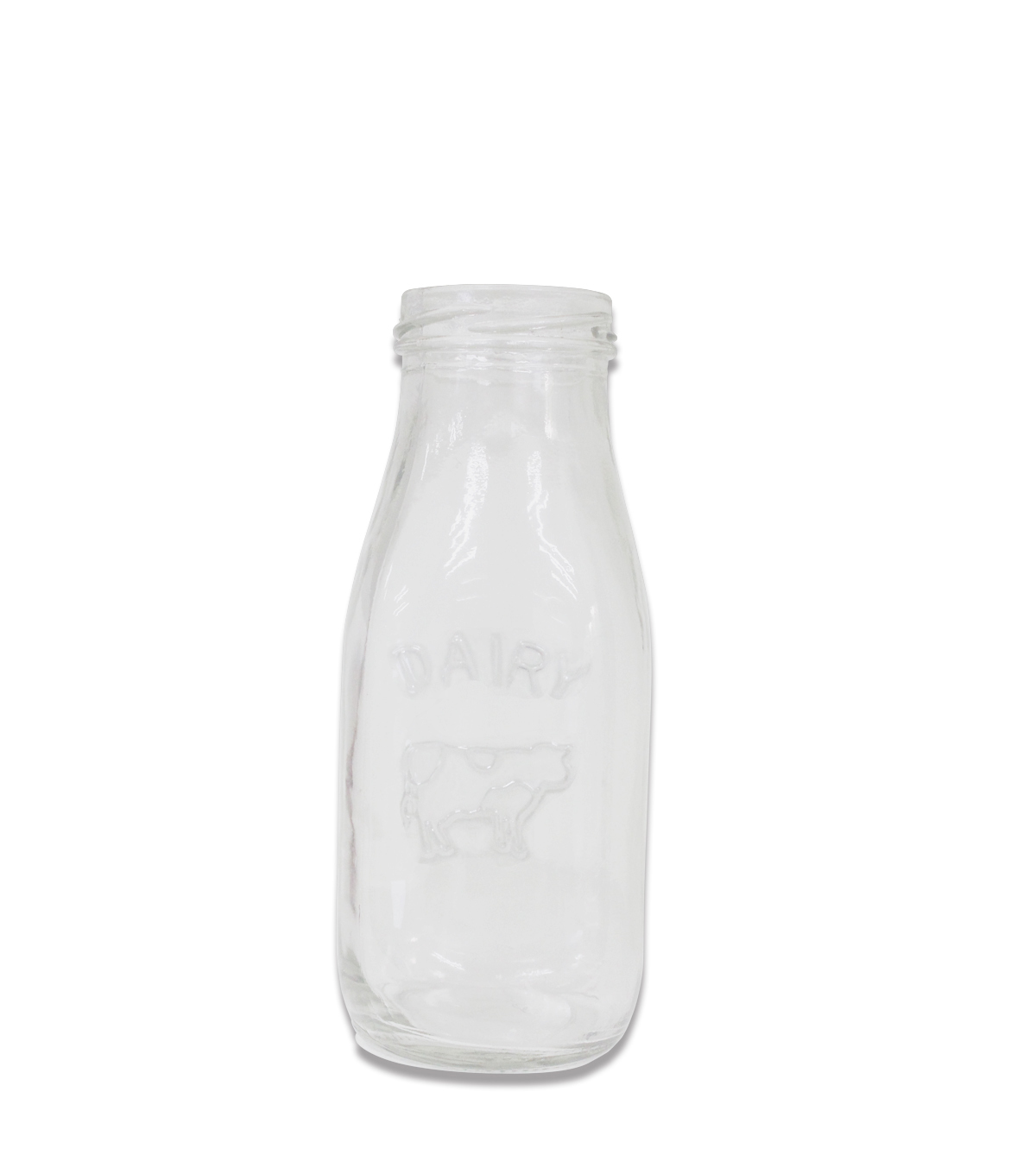 Glass Milk Bottle-Clear