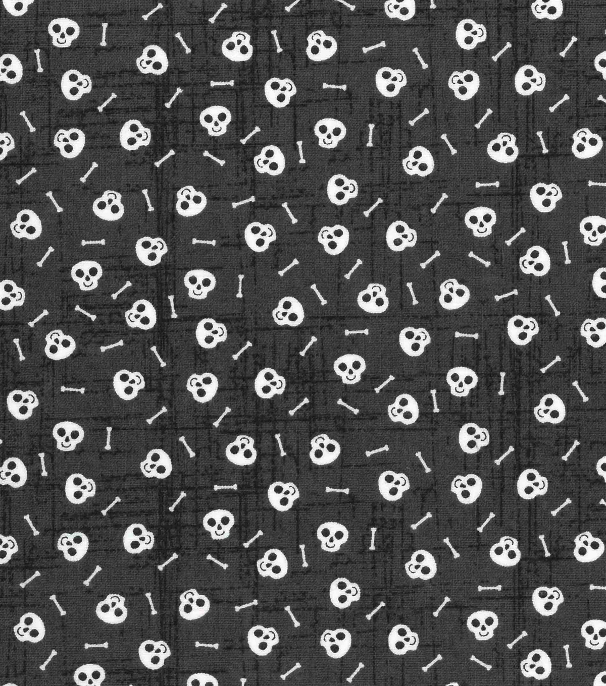 Halloween Cotton Fabric 43\u0022-Tossed Skulls And Bones