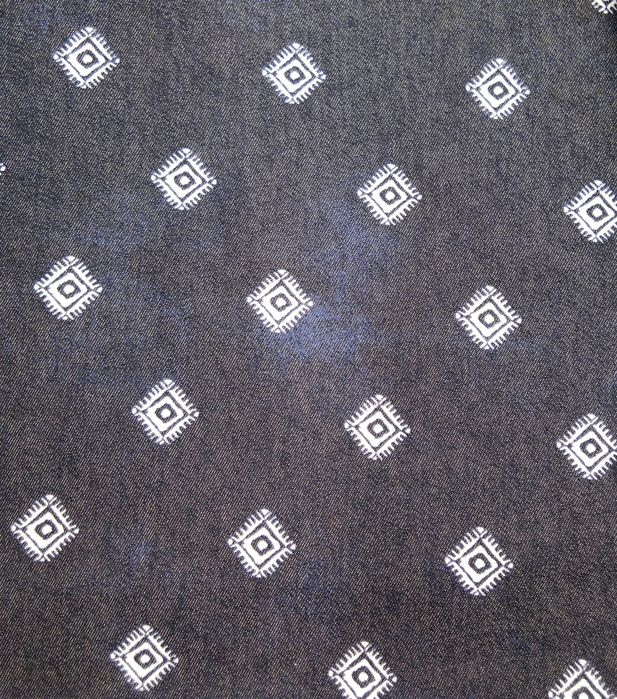 Sportswear Denim Stretch Fabric-Boho Diamonds