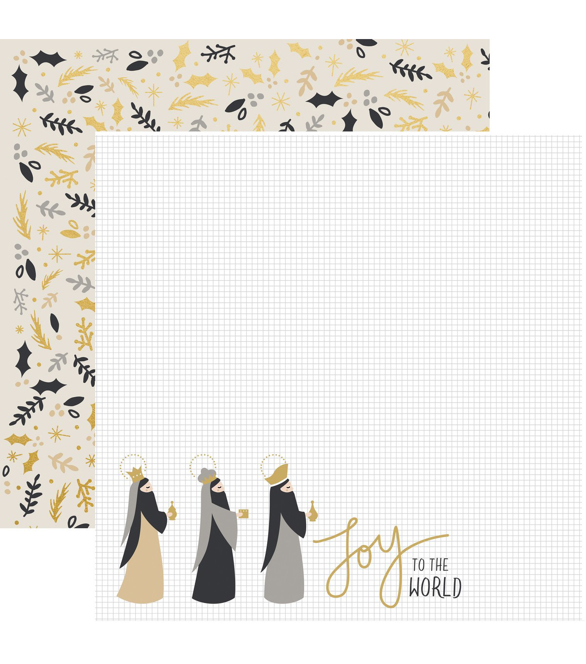 First Noel Double-Sided Specialty Cardstock 12\u0022X12\u0022-Gifts