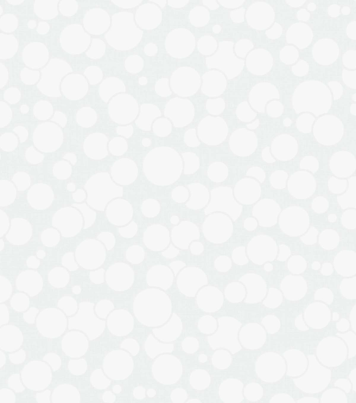 Quilter\u0027s Showcase Cotton Fabric 44\u0027\u0027-White Bubbles