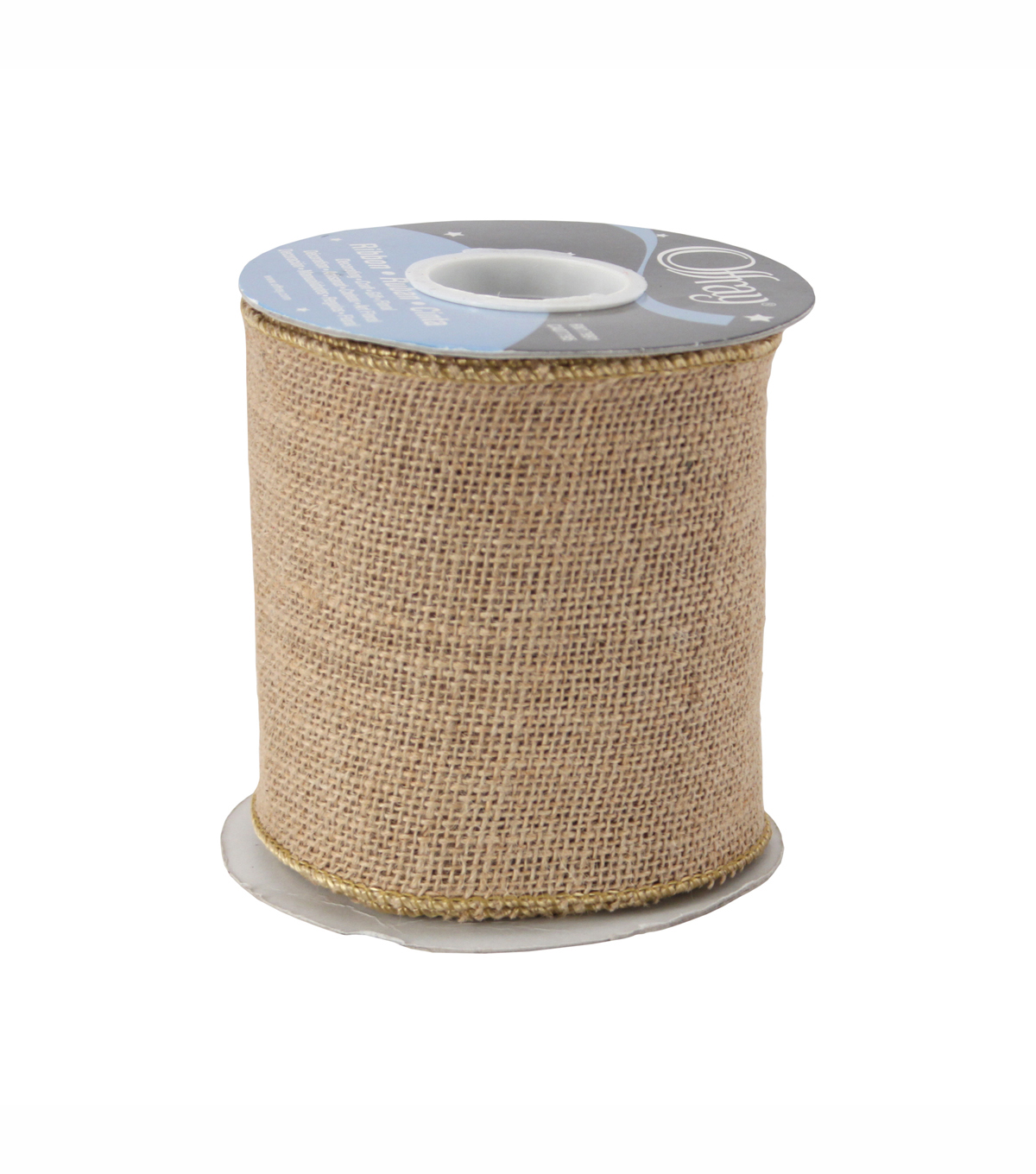 Offray Burlap Ribbon 4\u0027\u0027-Natural