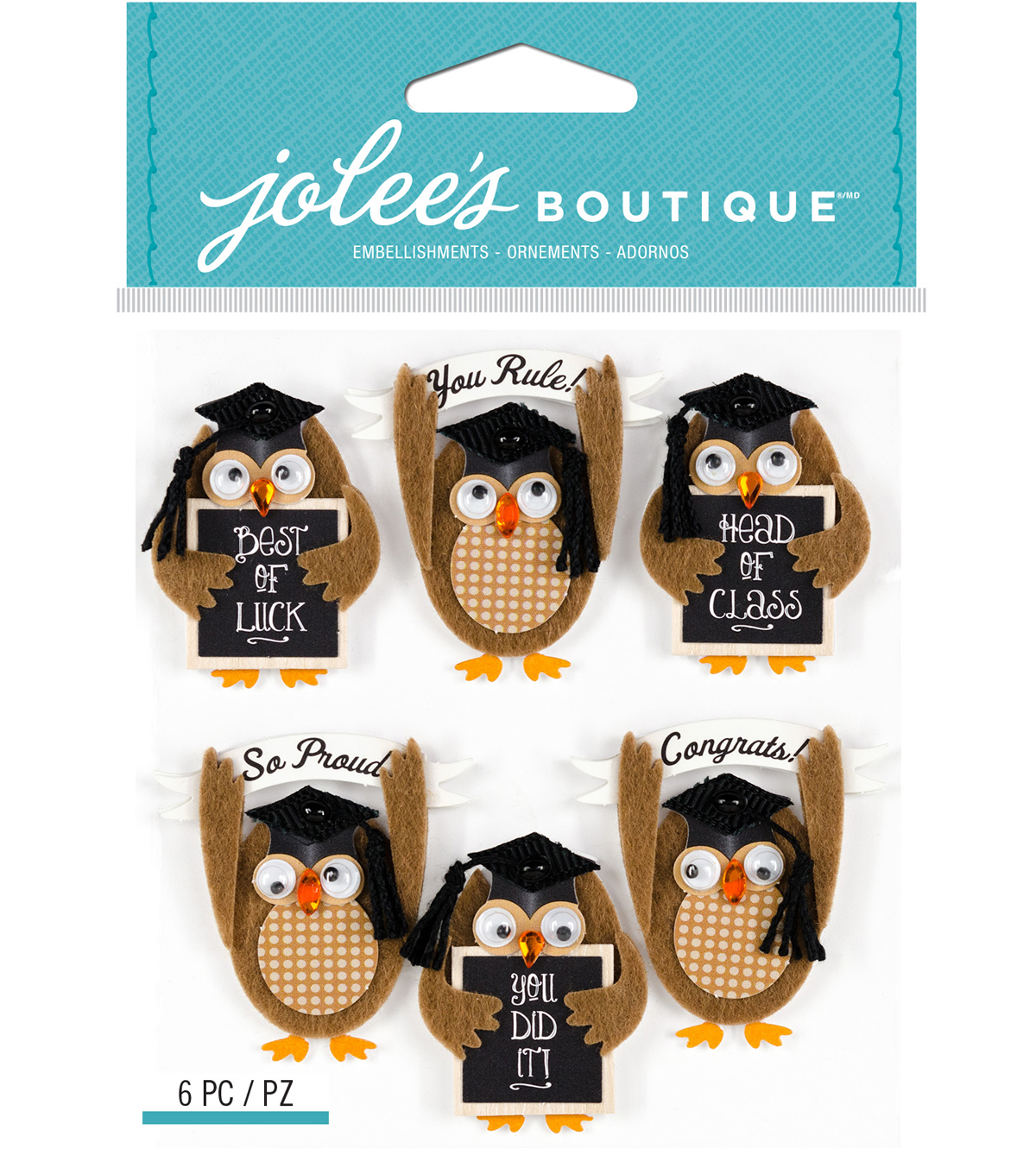 Jolee's Boutique Stickers-Repeat Graduation Owl