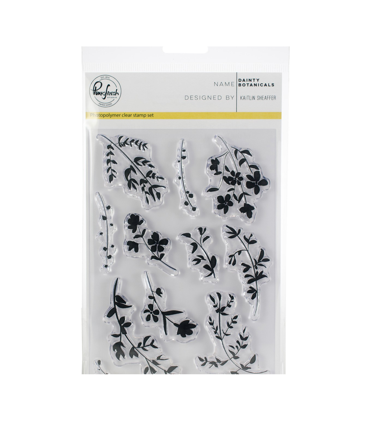 Pinkfresh Studio Clear Stamp Set 4\u0022X6\u0022-Dainty Botanicals