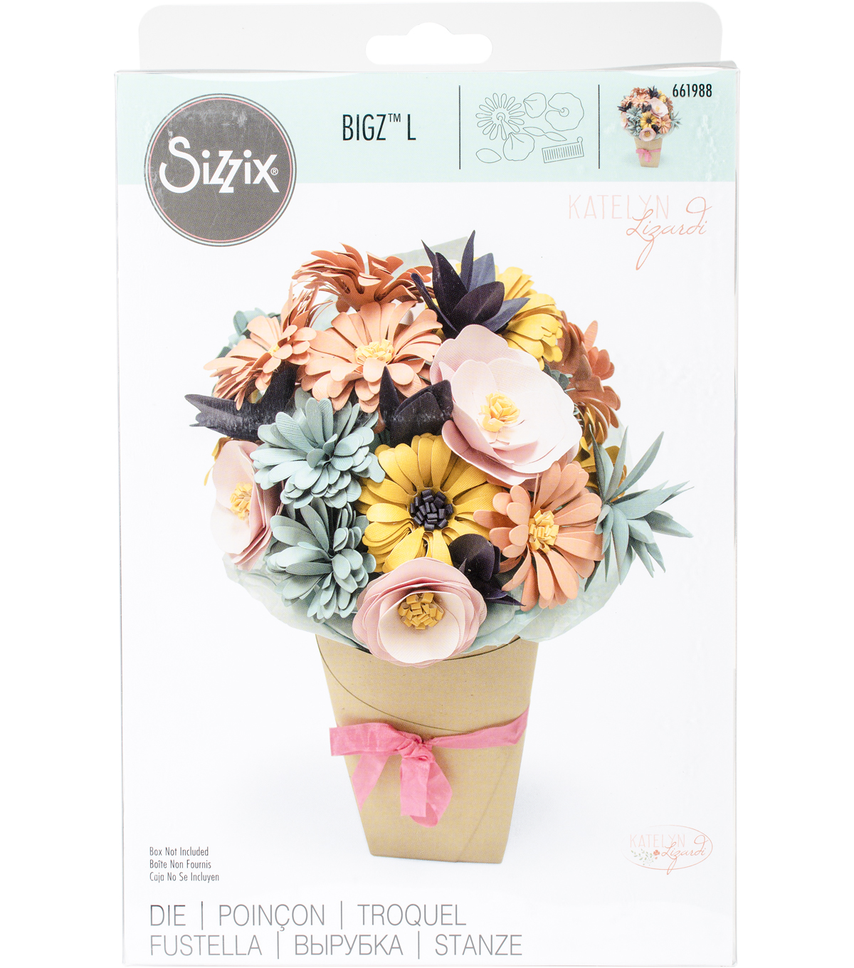 Sizzix Bigz L Dies By Katelyn Lizardi-Bundle Of Flowers