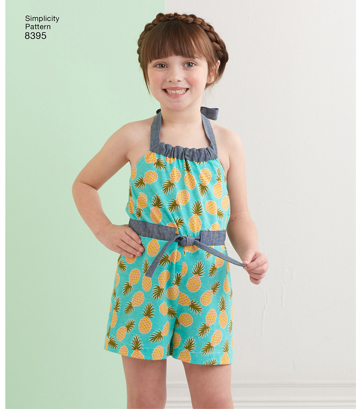 Simplicity Pattern 8395 Girls\u0027 Halter Dress or Romper-Size K5 (7-14)
