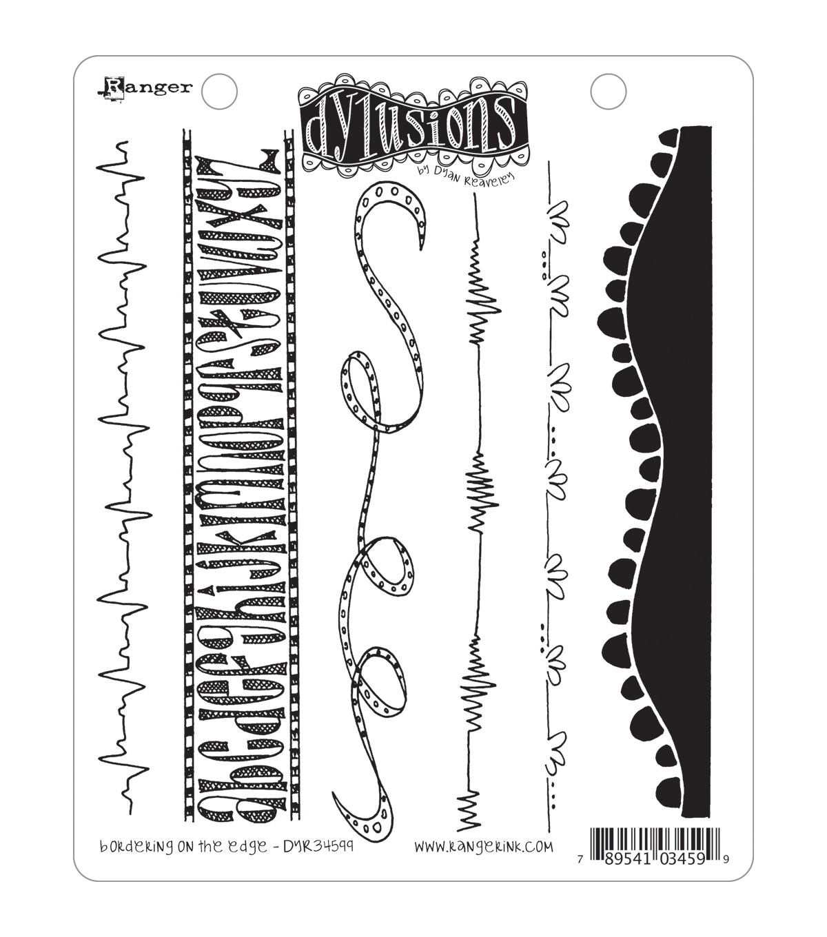 Dyan Reaveley\u0027s Dylusions Cling Stamp Collection-Bordering On The Edge