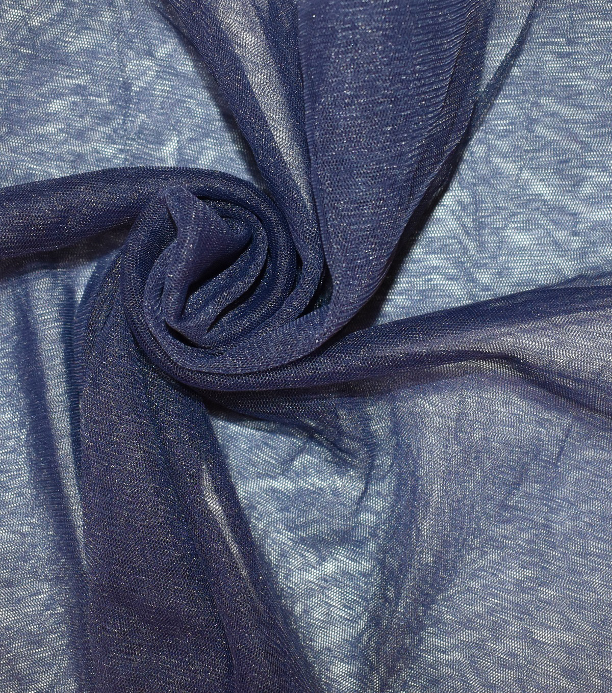 Casa Collection Solid Tulle Fabric 57\u0027\u0027, Evening Blue