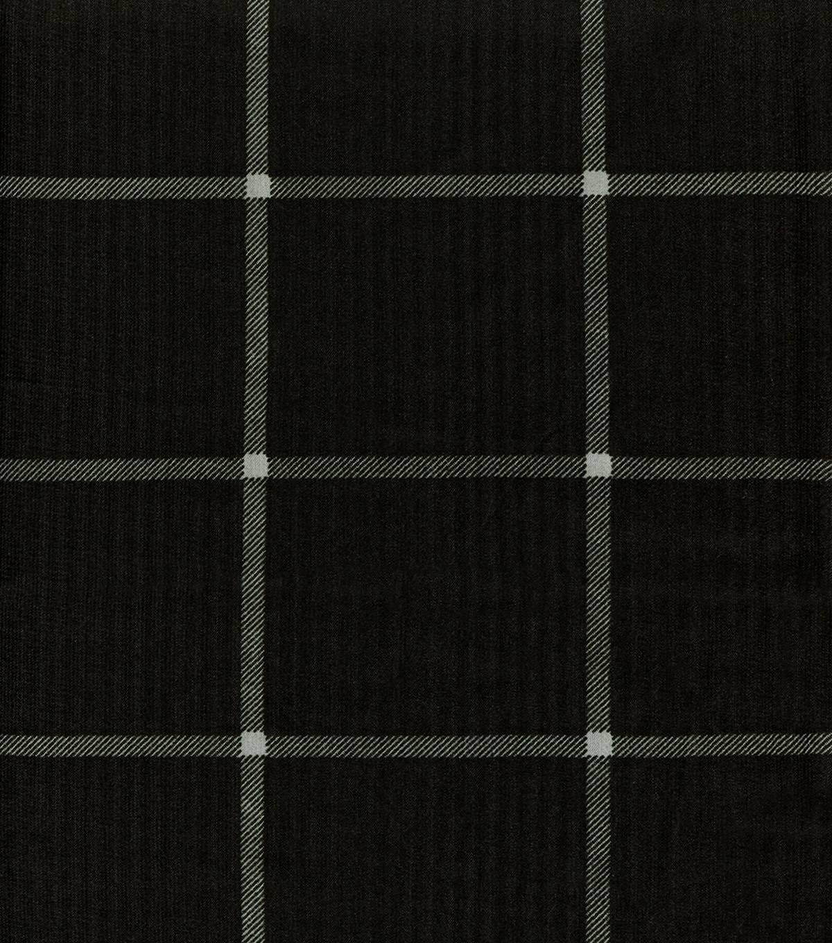 Silky Prints Georgette Fabric -Black & White Plaid