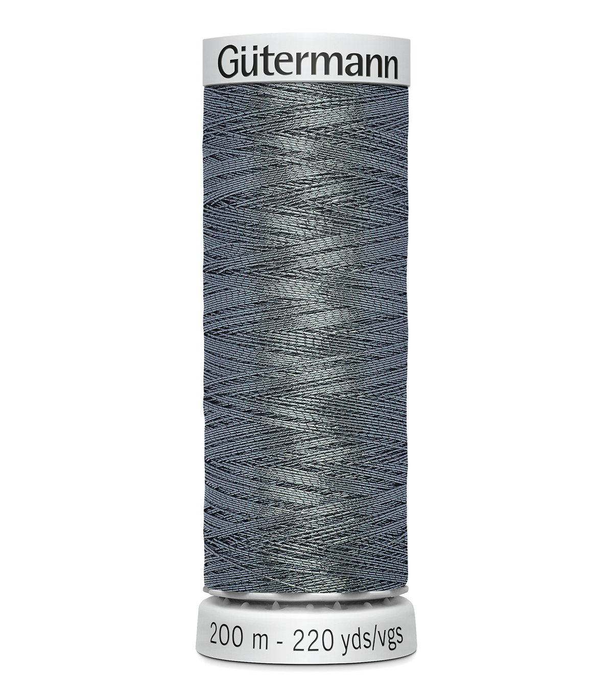 Gutermann 200M Dekor Thread, 200m Dekor Metallic-grey