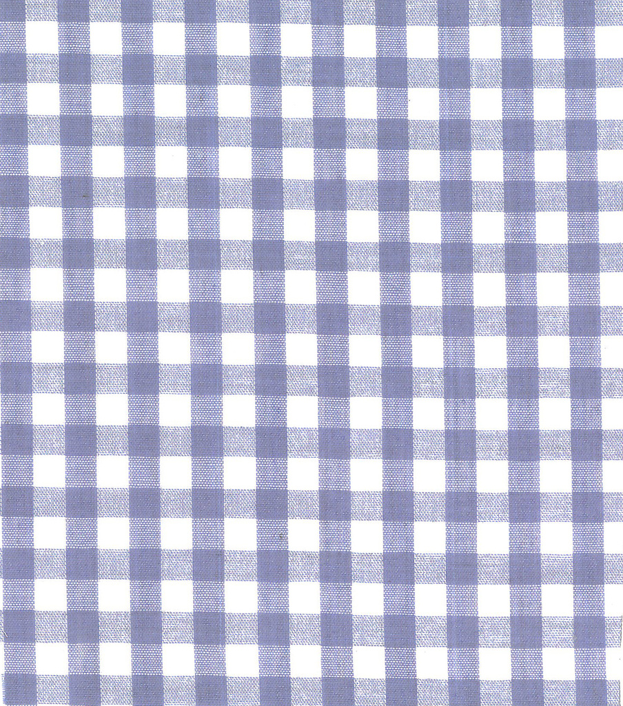 Homespun Cotton Fabric-Check Blue 0.25\u0022