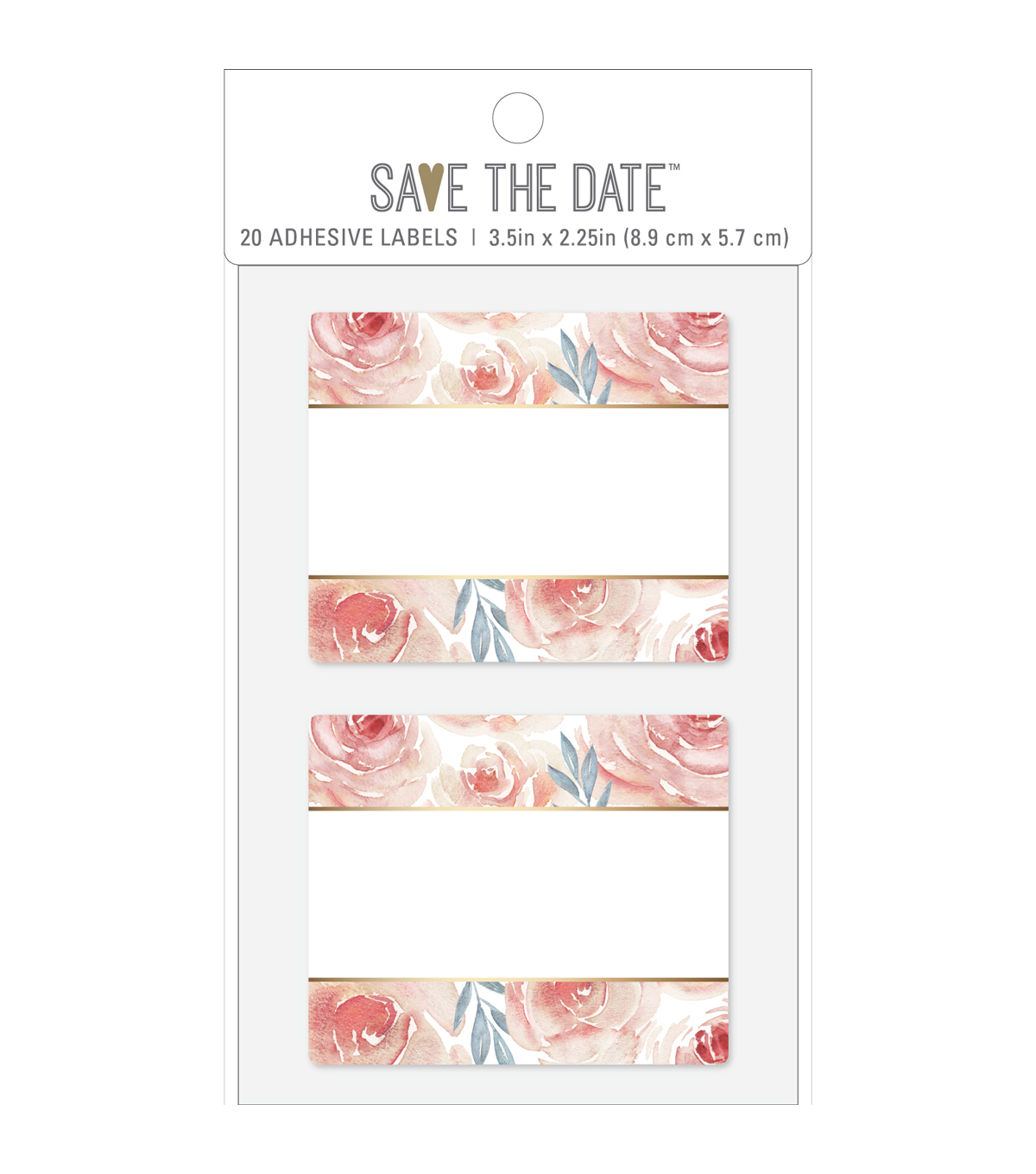 Save The Date 20 Pk 3 5 X2 25 Rectangle Adhesive Labels Floral