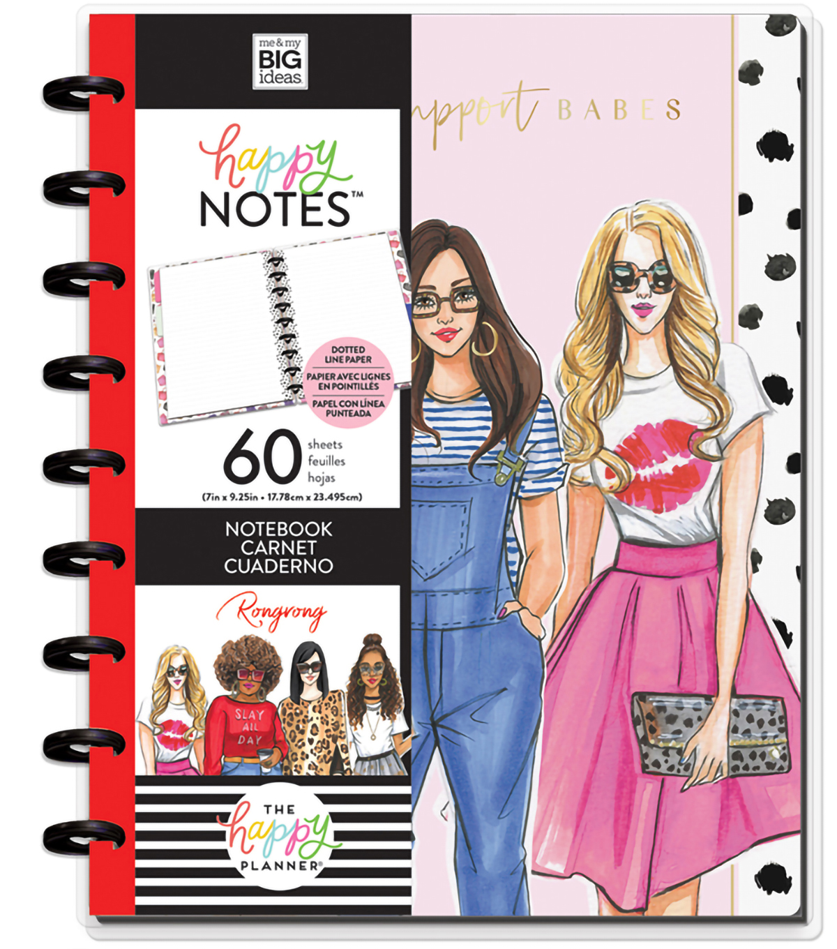 The Happy Planner x Rongrong Classic Happy Notes-Babes Support Babes