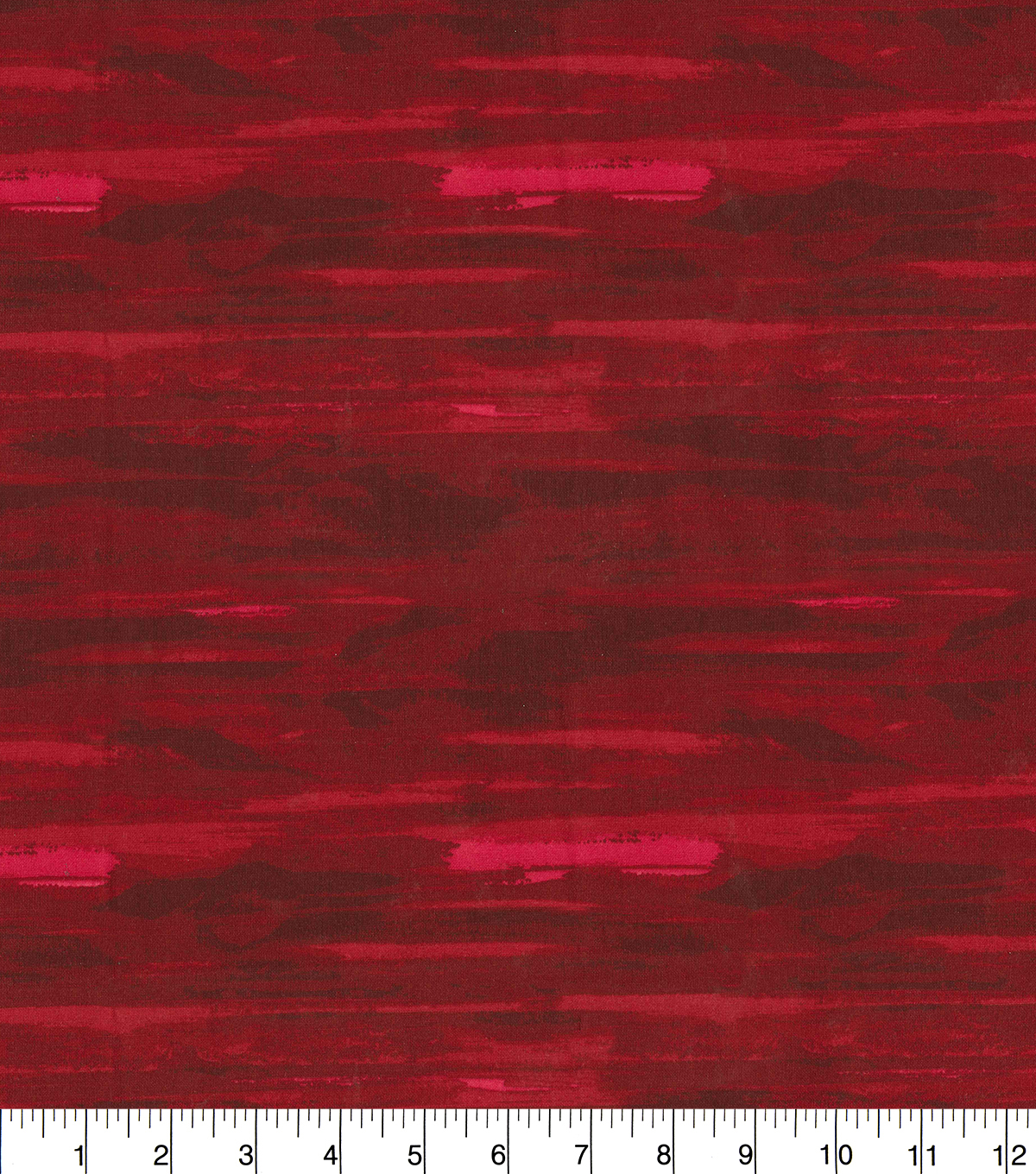 Keepsake Calico Cotton Fabric-Red Watercolor Stripes