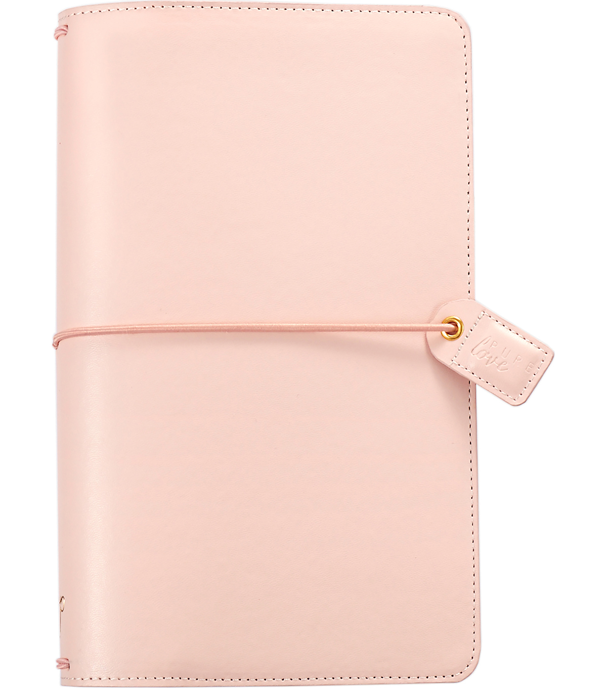 Webster\u0027s Pages Color Crush Faux Leather Traveler\u0027s Planner-Blush Pink