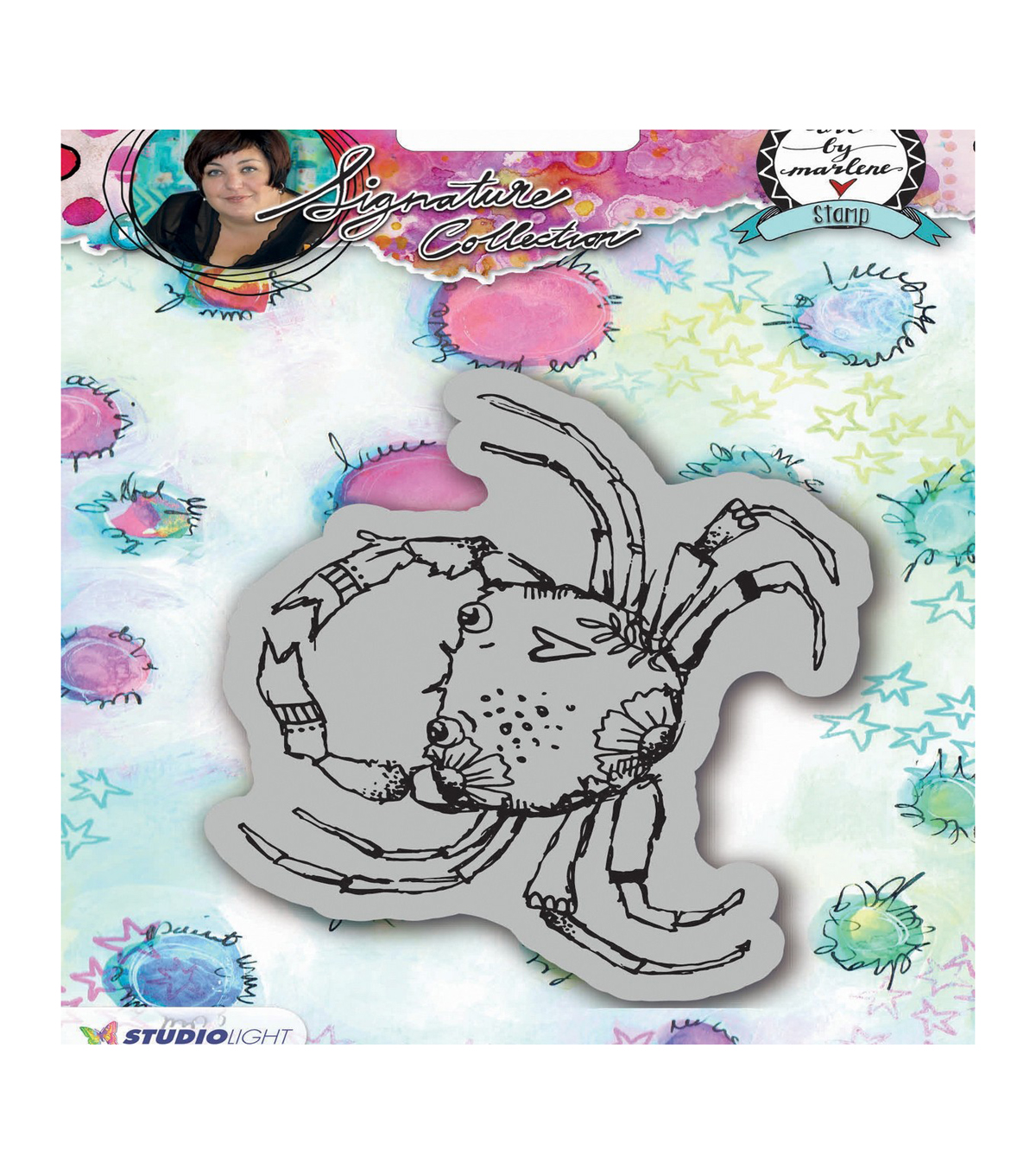 Art By Marlene 2.0 Animals Cling Stamp-Crab
