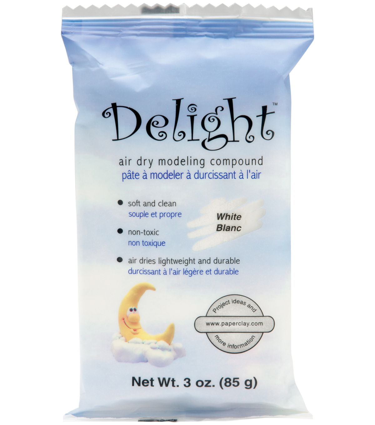 Delight Air Dry Modeling Compound 3 Ounces-White
