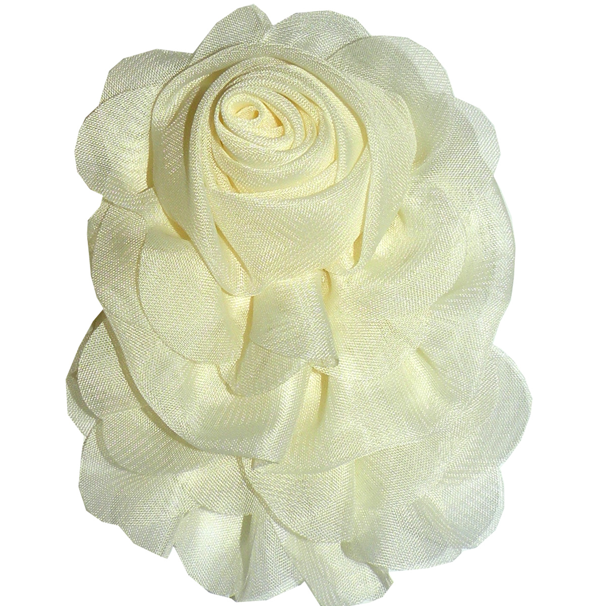 Sheer Rosette Pin White, Ivory