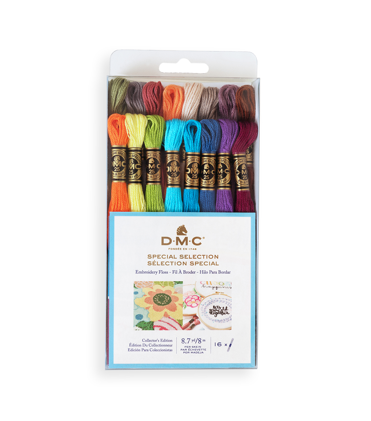 Dmc Embroidery Floss Pack 87 Yards 16pkg New Floss Colors Joann