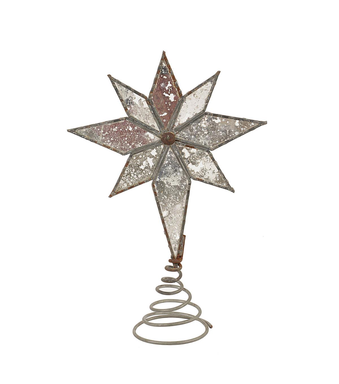 Christmas Metal   Mercury Glass Star Tree Topper  2c7e9dfe5364