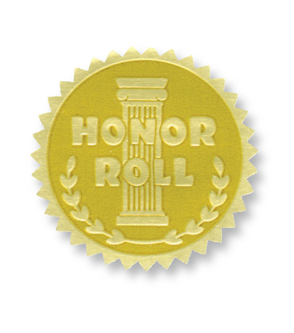Hayes Gold Foil Embossed Seals, Honor Roll, 54 Per Pack, 3 Packs