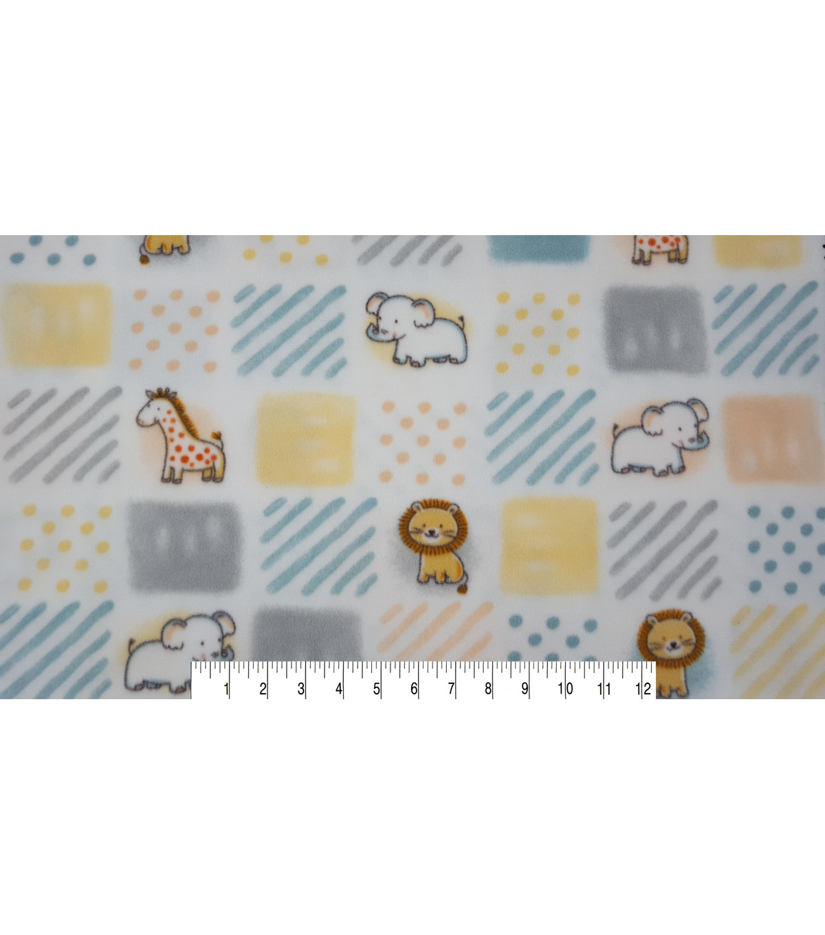 Nursery Fleece Fabric 59\u0022-Woodland Patchwork