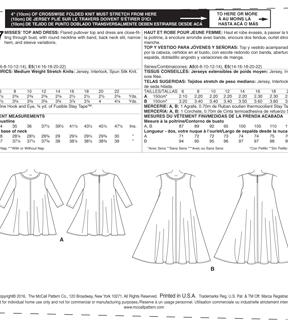 87575522f9d6 McCall s Pattern M7407 Misses  Flared Knit Top   Dress
