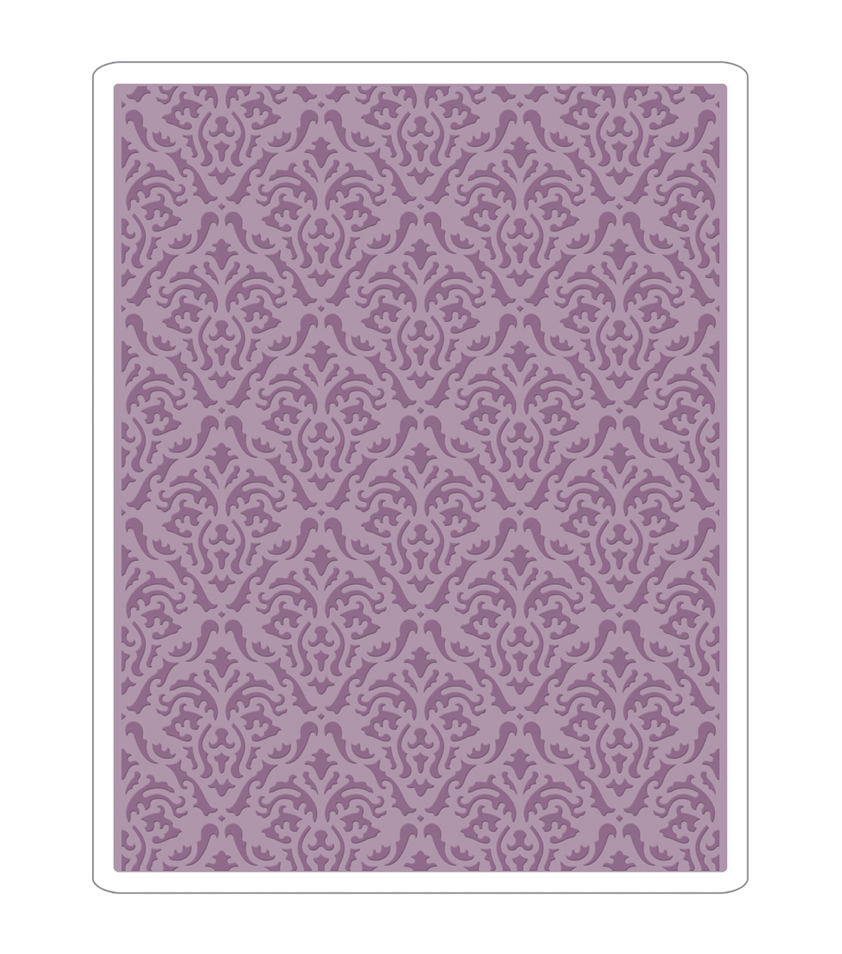 Sizzix Texture Fades A2 Embossing Folder-Damask