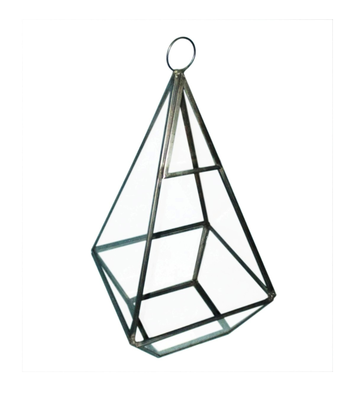 Bloom Room Glass & Metal Terrarium-Gunmetal Finished
