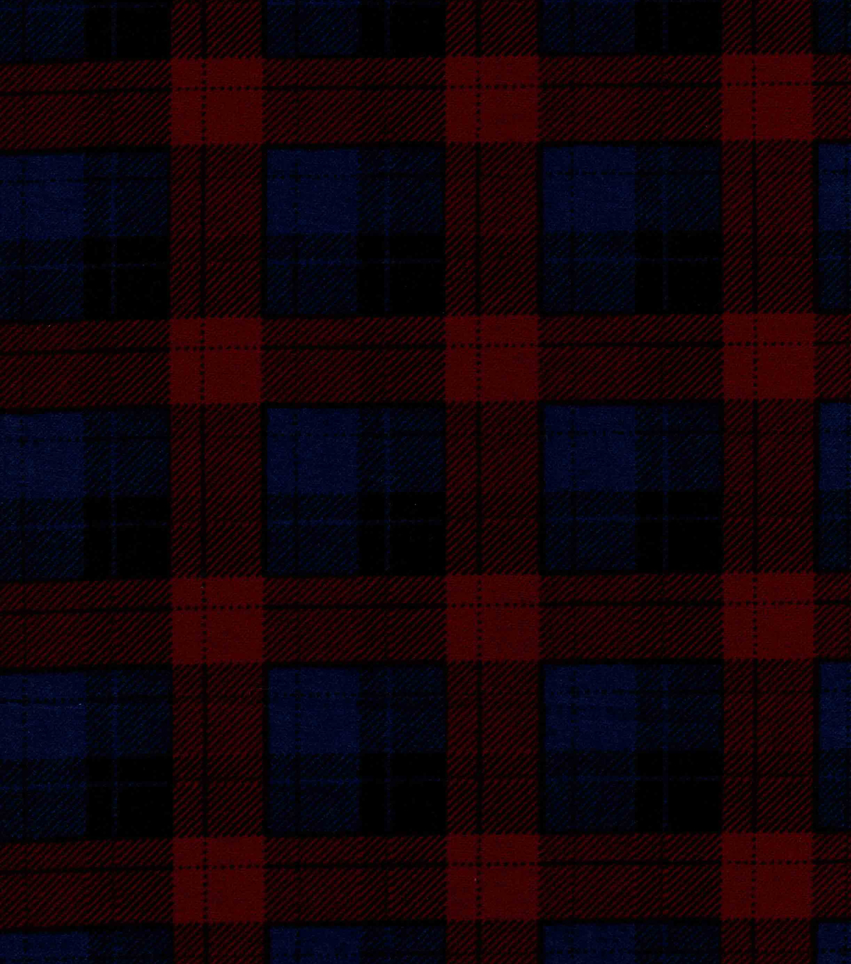 Snuggle Flannel Fabric -Skylar Blue & Brown Plaid