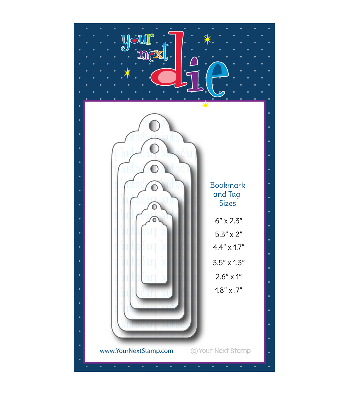Your Next Stamp Die Set-Large Layered Bookmark