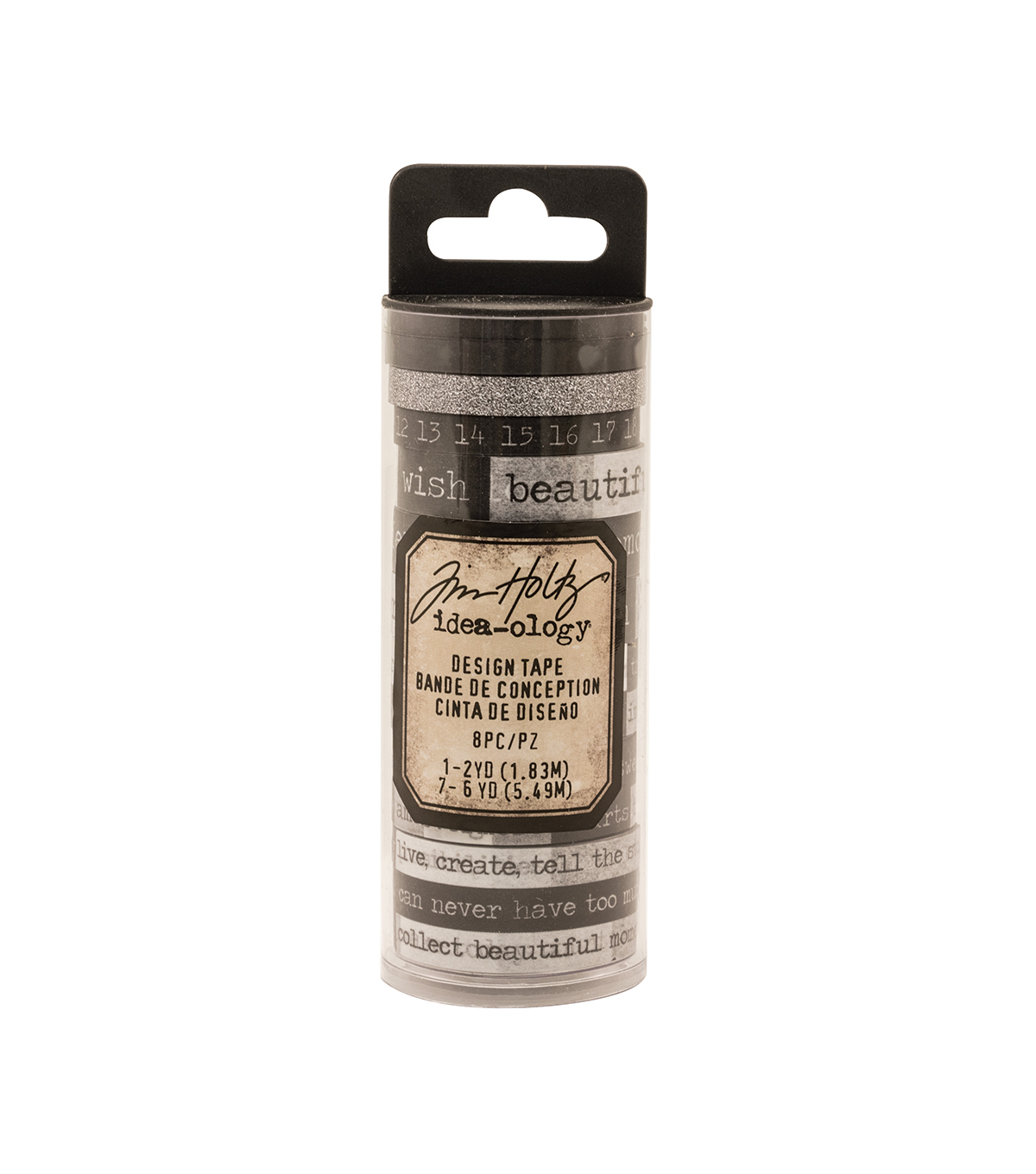 Tim Holtz Idea-ology Pack of 8 Chatter Design Tape