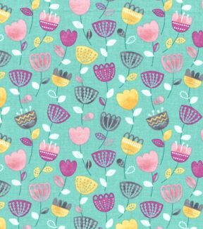 Premium Cotton Fabric 43\u0027\u0027-Raining Tulips