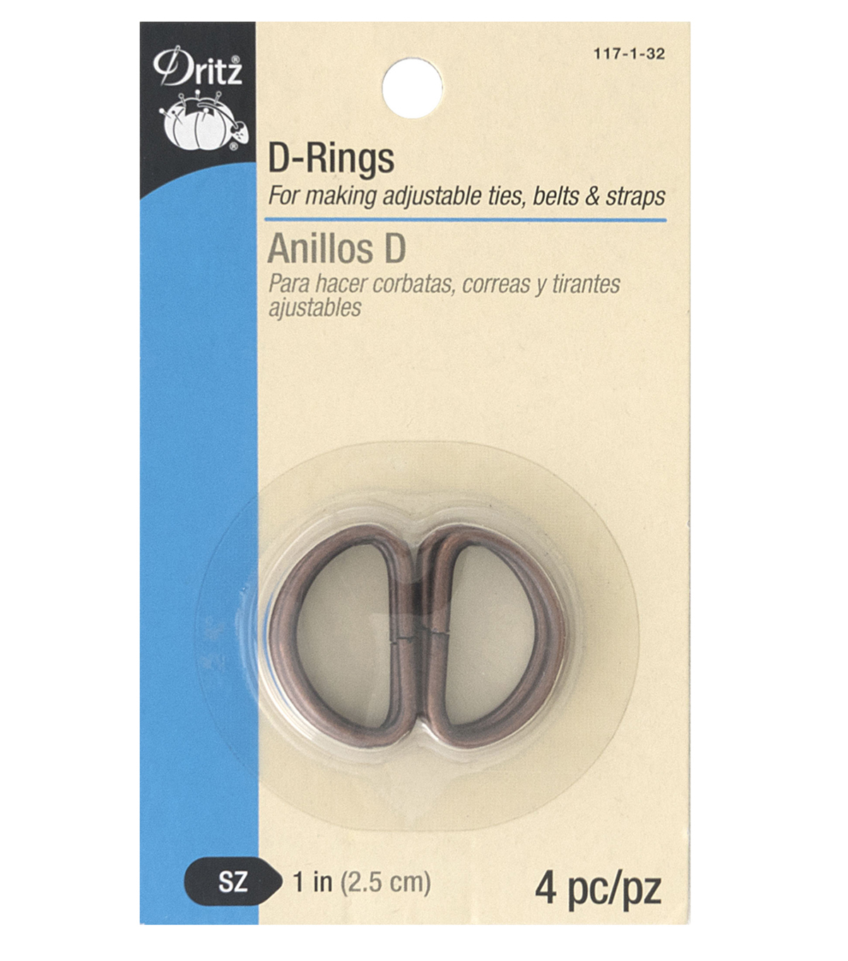 Dritz 1\u0022 D-Rings-Copper